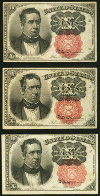 Fr. 1265 10¢ Fifth Issue About New; Fr. 1266 10¢ Fifth Issue Two Examples About New or Better. ... (Total: 3 n...
