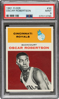 1961 Fleer Oscar Robertson #36 PSA Mint 9 - Only One Higher