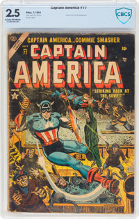 Captain America Comics #77 (Timely, 1954) CBCS GD+ 2.5 Cream to off-white pages
