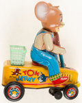 Memorabilia:Comic-Related, Tom & Jerry Jerry Battery Powered Hand Car (M.G.M., 1960s-70s)....