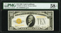 Fr. 2400 $10 1928 Gold Certificate. PMG Choice About Unc 58 EPQ