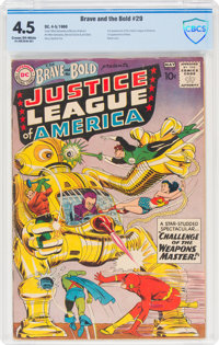 The Brave and the Bold #29 Justice League of America (DC, 1960) CBCS VG+ 4.5 Cream to off-white pages