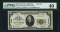 Redwood City, CA - $20 1929 Ty. 1 The First National Bank of San Mateo County Ch. # 7279 PMG Extremely