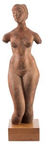 Sculpture, Charles Umlauf (American, 1911-1994). Classic Figure (female torso). Terracotta. 27 inches (68.6 cm) high on a 2 inches ...