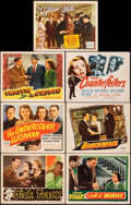 "Movie Posters:Crime, Dick Tracy & Other Lot (RKO, 1945). Overall: Very Fine-. Lobby Cards (4), Title Lobby Cards (3) (11"" X 14""), & One Sheet (27... (Total: 8 Items)"