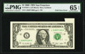 Foldover Error Fr. 1934-L $1 2009 Federal Reserve Note. PMG Gem Uncirculated 65 EPQ