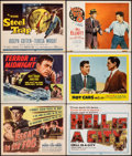 """Movie Posters:Film Noir, Escape in the Fog & Other Lot (Columbia, 1945). Overall: Very Fine-. Title Lobby Cards (4) & Lobby Cards (2) (11"""" X 14""""). Fi... (Total: 6 Items)"""