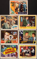 """Movie Posters:Crime, I Cover the Underworld & Other Lot (Republic, 1955). Overall: Very Fine-. Title Lobby Cards (2) & Lobby Cards (5) (11"""" X 14""""... (Total: 7 Items)"""