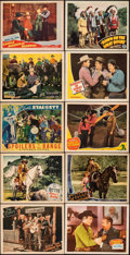 """Movie Posters:Western, Ridin' the Cherokee Trail & Other Lot (Monogram, 1941). Fine/Very Fine. Lobby Cards (20) (11"""" X 14""""). Western.. ......"""