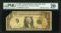 Foldover Error Fr. 1911-B $1 1981 Federal Reserve Note. PMG Very Fine 20