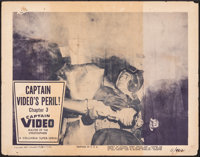 """Captain Video, Master of the Stratosphere (Columbia, 1951). Fine-. Lobby Card (11"""" X 14""""). Chapter 3 -- """"..."""