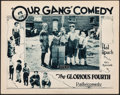 "Movie Posters:Comedy, Our Gang in The Glorious Fourth (Pathe, 1927). Very Fine. Lobby Card (11"" X 14""). Comedy.. ..."