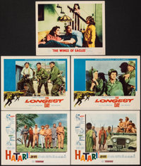 "Hatari! & Other Lot (Paramount, 1962). Very Fine. Lobby Cards (5) (11"" X 14""). Adventure. ... (Total:..."