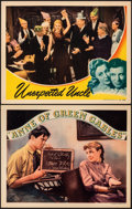 "Movie Posters:Drama, Anne of Green Gables & Other Lot (RKO, 1934). Very Fine. Lobby Cards (2) (11"" X 14""). Drama.. ... (Total: 2 Items)"