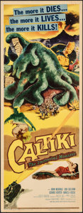 "Movie Posters:Horror, Caltiki, the Immortal Monster (Allied Artists, 1960). Folded, Fine/Very Fine. Insert (14"" X 36""). Horror.. ..."