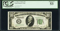 Fr. 2001-F $10 1928A Federal Reserve Note. PCGS About New 53