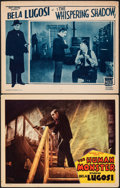 """Movie Posters:Horror, The Human Monster & Other Lot (Monogram, 1939). Fine/Very Fine. Lobby Cards (2) (11"""" X 14""""). Horror.. ... (Total: 2 Items)"""