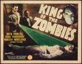 "Movie Posters:Horror, King of the Zombies (Monogram, 1941). Fine/Very Fine. Title Lobby Card (11"" X 14""). Horror.. ..."