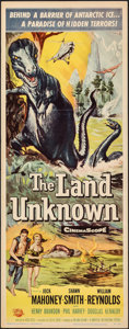 "Movie Posters:Science Fiction, The Land Unknown (Universal International, 1957). Folded, Very Fine-. Insert (14"" X 36""). Science Fiction.. ..."