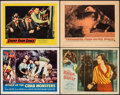 "Movie Posters:Science Fiction, Attack of the Crab Monsters & Other Lot (Allied Artists, 1957). Very Fine-. Lobby Cards (4) (11"" X 14""). Science Fiction.. ... (Total: 4 Items)"