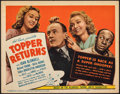 "Movie Posters:Comedy, Topper Returns (United Artists, 1941). Very Fine-. Title Lobby Card (11"" X 14""). Comedy.. ..."