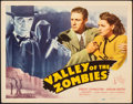 """Movie Posters:Horror, Valley of the Zombies (Republic, 1946). Fine/Very Fine. Title Lobby Card (11"""" X 14""""). Horror.. ..."""