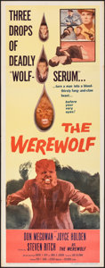 "Movie Posters:Horror, The Werewolf (Columbia, 1956). Folded, Very Fine-. Insert (14"" X 36""). Horror.. ..."