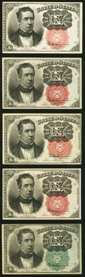 Fr. 1264 10¢ Fifth Issue About New; Fr. 1265 10¢ Fifth Issue About New; Fr. 1266 10¢ Fifth Issue Three Ex...