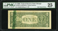 Green Ink Smear on Back Error Fr. 1933-G $1 2006 Federal Reserve Note. PMG Very Fine 25
