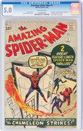 Silver Age (1956-1969):Superhero, The Amazing Spider-Man #1 (Marvel, 1963) CGC VG/FN 5.0 Off-white pages....