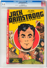 Jack Armstrong #1 (Parents' Magazine Institute, 1947) CGC VF/NM 9.0 Off-white pages