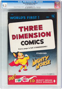 Mighty Mouse 3-D #1 (St. John, 1953) CGC NM- 9.2 Cream to off-white pages
