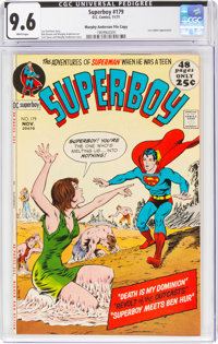 Superboy #179 Murphy Anderson File Copy (DC, 1971) CGC NM+ 9.6 White pages