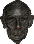 Political:3D & Other Display (pre-1896), Abraham Lincoln: Leonard Volk Life Mask....