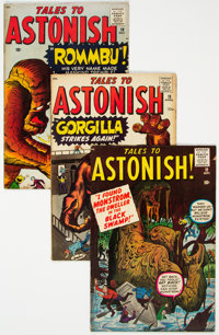 Tales to Astonish #11, 18, and 19 Group (Marvel, 1956-61) Condition: Average VG.... (Total: 4 Comic Books)