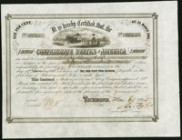 Ball 268 Cr. 134 $1,500 1863 Six Per Cent Stock Certificate Very Fine