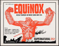 "Movie Posters:Horror, Equinox (VIP, 1970). Rolled, Very Fine. Half Sheet (22"" X 28""). Horror.. ..."