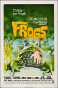 """Movie Posters:Horror, Frogs (American International, 1972). Folded, Very Fine-. One Sheet (27"""" X 41"""") & Uncut Pressbook (28 Pages, 8.5"""" X 1..."""