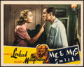 "Movie Posters:Hitchcock, Mr. & Mrs. Smith (RKO, 1941). Very Fine. Lobby Card (11"" X 14""). Hitchcock.. ..."