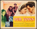 """Movie Posters:Drama, Our Town (United Artists, 1940). Fine/Very Fine. Title Lobby Card (11"""" X 14""""). Drama.. ..."""