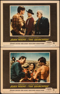 """Movie Posters:Western, The Searchers (Warner Bros., 1956). Very Fine-. Lobby Cards (2) (11"""" X 14""""). Western.. ... (Total: 2 Items)"""