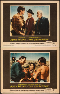 """The Searchers (Warner Bros., 1956). Very Fine-. Lobby Cards (2) (11"""" X 14""""). Western. ... (Total: 2 Items)"""