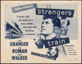 """Movie Posters:Hitchcock, Strangers on a Train (Warner Bros., R-1957). Folded, Very Fine-. Half Sheet (22"""" X 28""""). Hitchcock.. ..."""