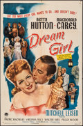 """Movie Posters:Comedy, Dream Girl & Other Lot (Paramount, 1948). Folded, Fine/Very Fine. One Sheet (27"""" X 41"""") & Half Sheet (22"""" X 28""""). Comedy.. ... (Total: 2 Items)"""