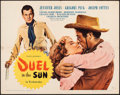 "Movie Posters:Western, Duel in the Sun (United Artists, 1947). Folded, Fine/Very Fine. Half Sheet (22"" X 28"") Style B. Western.. ..."