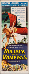 "Movie Posters:Horror, Goliath and the Vampires (American International, 1964). Rolled, Very Fine-. Insert (14"" X 36""). Reynold Brown Artwork. Horr..."