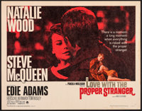 """Love with the Proper Stranger (Paramount, 1964). Rolled, Fine+. Half Sheet (22"""" X 28""""). Romance"""