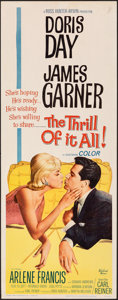 "Movie Posters:Comedy, The Thrill of It All (Universal International, 1963). Rolled, Very Fine-. Insert (14"" X 36""). Comedy.. ..."