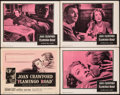 """Movie Posters:Drama, Flamingo Road (Warner Bros., 1949). Overall: Very Fine-. Title Lobby Card & Lobby Cards (3) (11"""" X 14""""). Drama.. ... (Total: 4 Items)"""