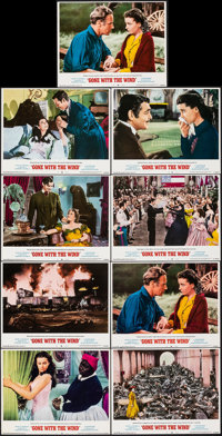 "Gone with the Wind (MGM, R-1968). Very Fine+. Lobby Card Set of 8 & Lobby Card (11"" X 14""). Academy Aw..."